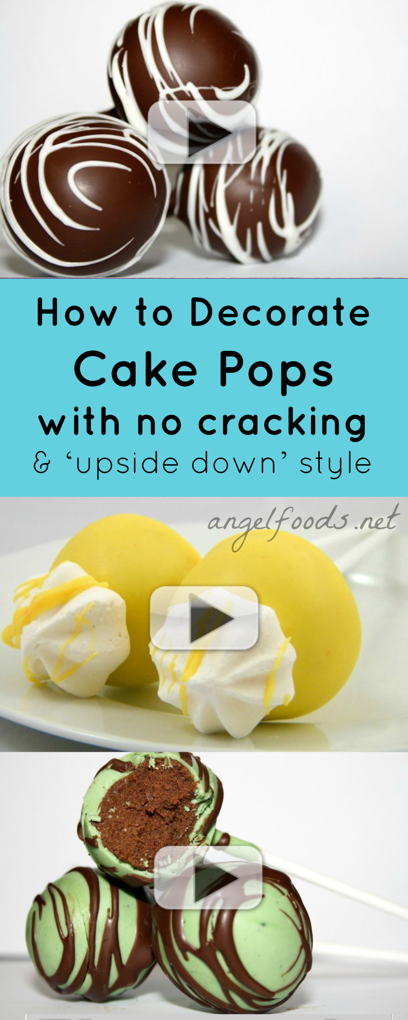 How to Make Cake Pops {Video Tutorial} Angel Foods