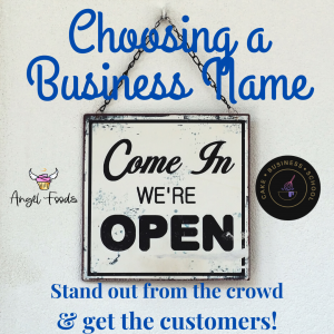 Choose a name for your cake business | Choosing a Business name | Cake Business Advice | Angel Foods | Cake Business School