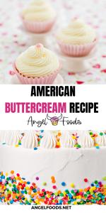 Buttercream icing recipe | buttercream frosting recipe | American Buttercream Recipe | Cake Recipes | Angel Foods | Cake Business School